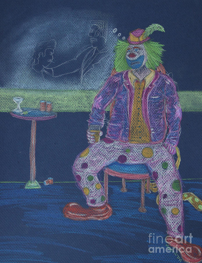 Clowns Drawing - Quit Clowning Around by Michael Mooney