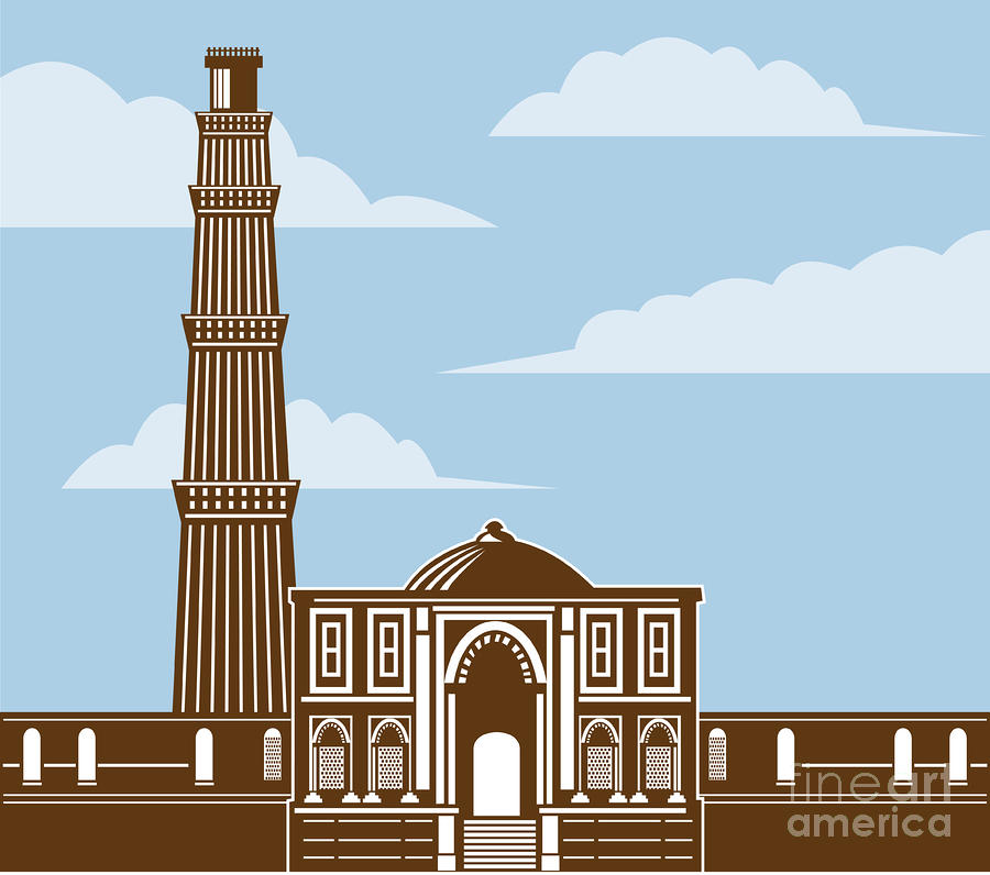 Qutub Minar Digital Art
