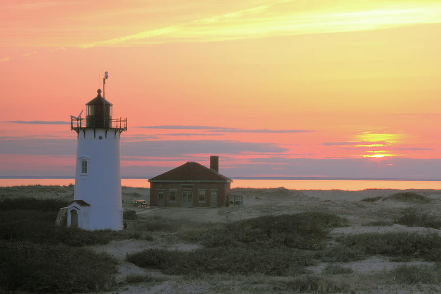 Race Point Light Sunset Photograph  - Race Point Light Sunset Fine Art Print