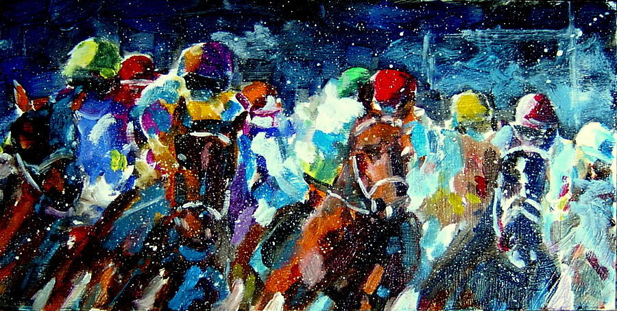 Racers Out Of The Gate Painting