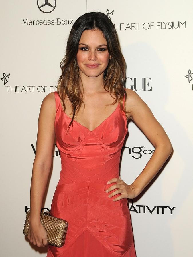 Rachel Bilson Wearing A Zac Posen Dress Photograph