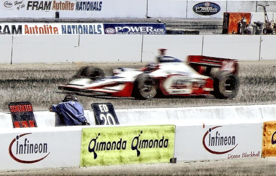 Car Photograph - Racing by Donna Blackhall