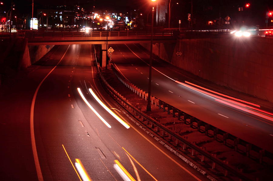 Urban Photograph - Racing Lights by Mandi Howard