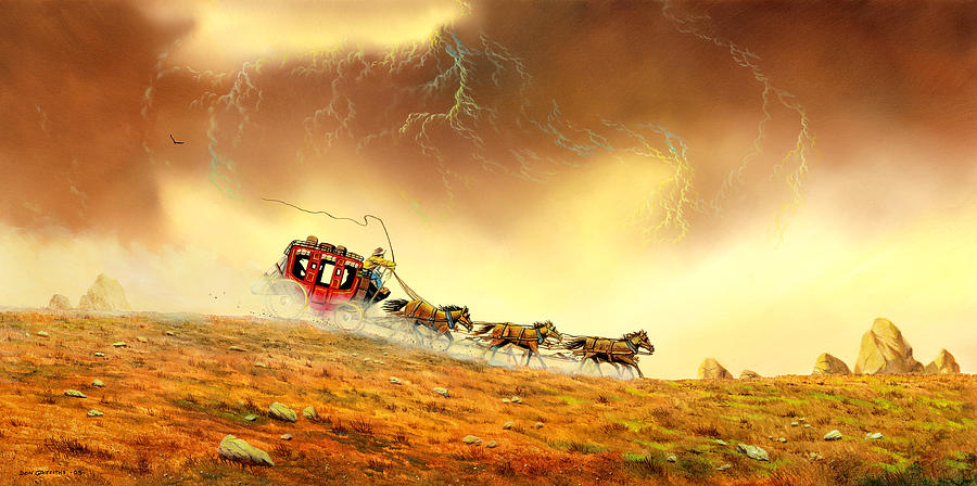Racing The Storm Painting  - Racing The Storm Fine Art Print