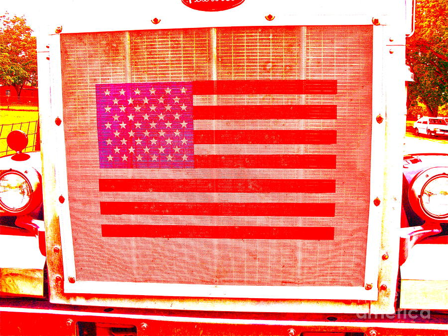 Radiator Truck Flag Photograph  - Radiator Truck Flag Fine Art Print