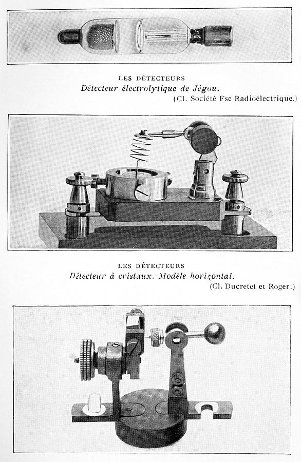 Radio Receiver Components, 1914 Photograph