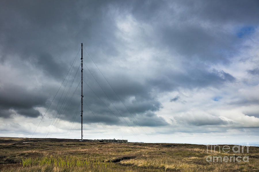 Radio Tower In Field Photograph  - Radio Tower In Field Fine Art Print