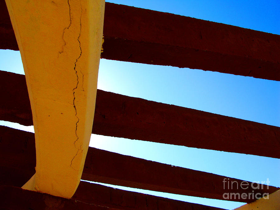 Rafters And Sky By Michael Fitzpatrick Photograph