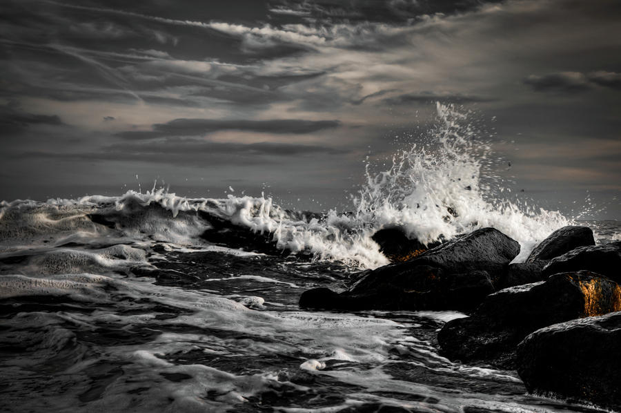 Raging Seas Photograph