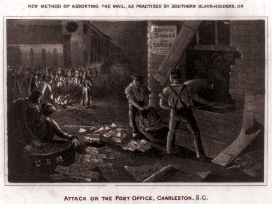 Raid On The Charleston Post Office Photograph