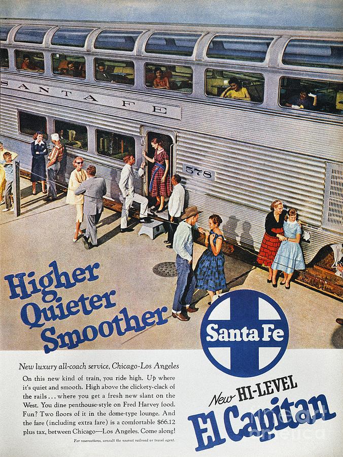 Railroad Ad, 1957 Photograph