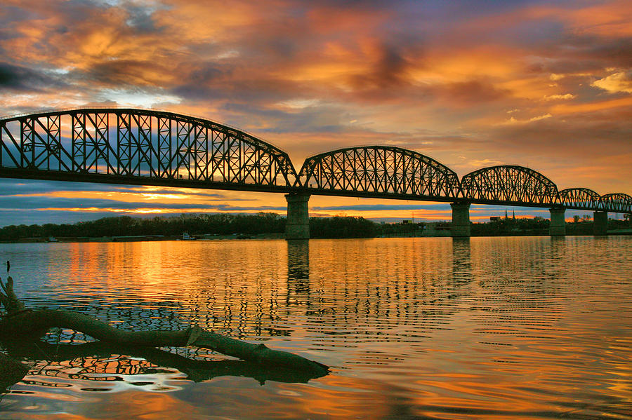 Railroad Bridge At Sunrise Photograph  - Railroad Bridge At Sunrise Fine Art Print