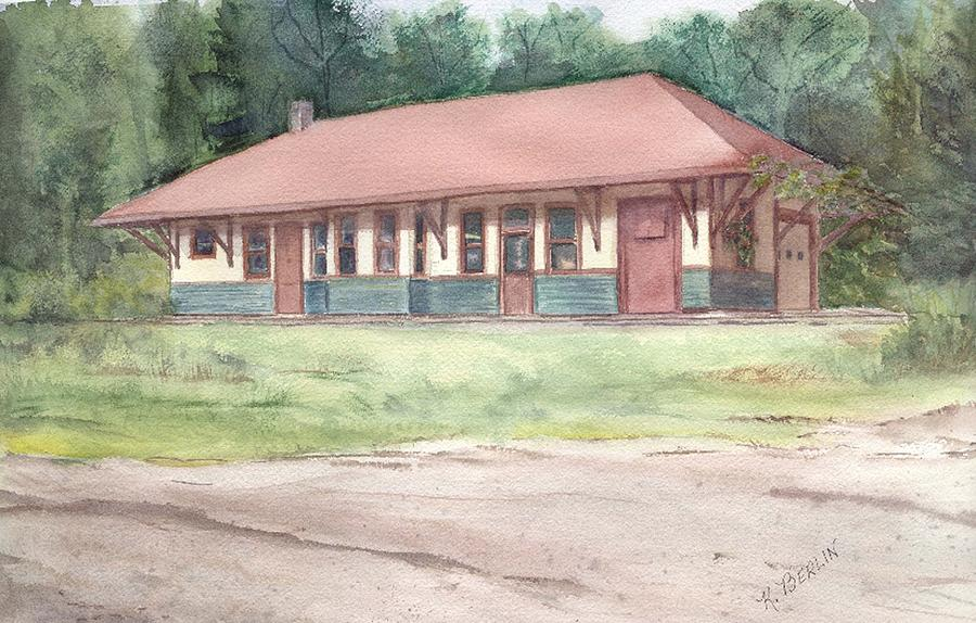 Railroad Depot Painting