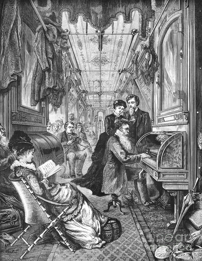 Railroad: Interior, 1876 Photograph