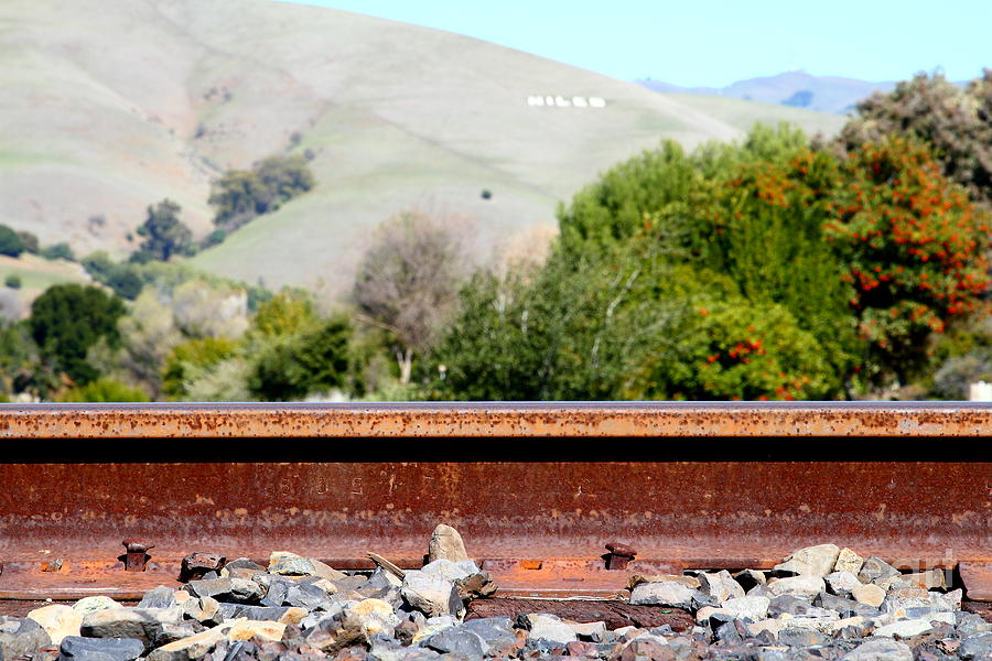 Railroad Track In Fremont California Near Historic Niles District In California . 7d12676 Photograph  - Railroad Track In Fremont California Near Historic Niles District In California . 7d12676 Fine Art Print