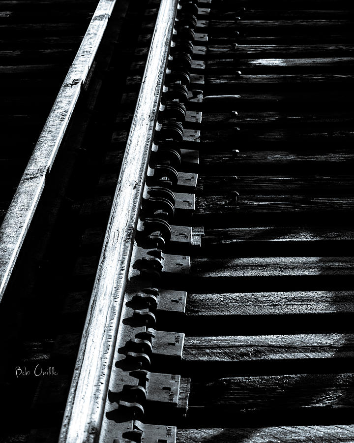 Rails And Ties Photograph