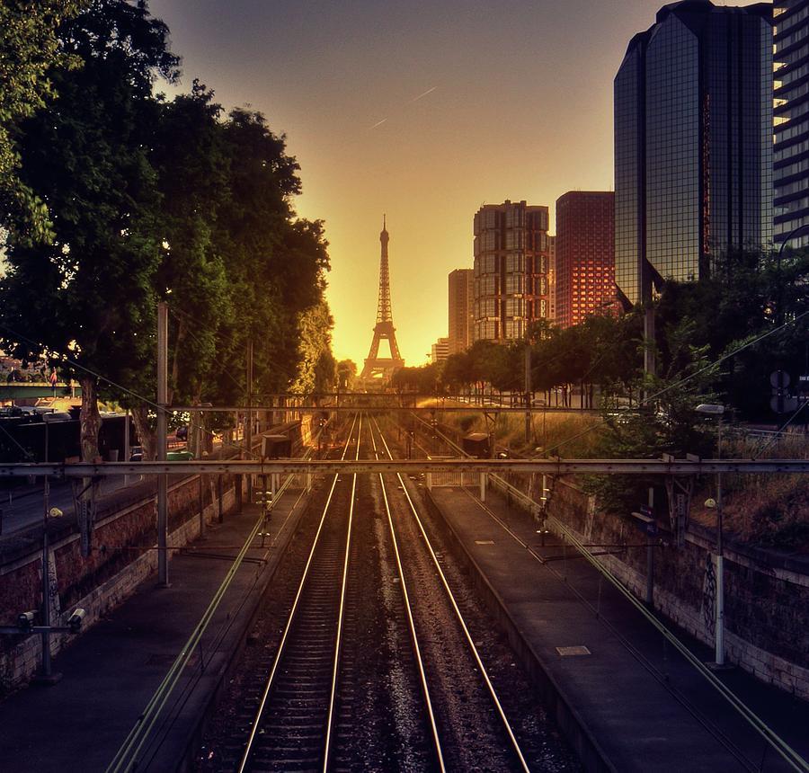Railway Tracks Photograph