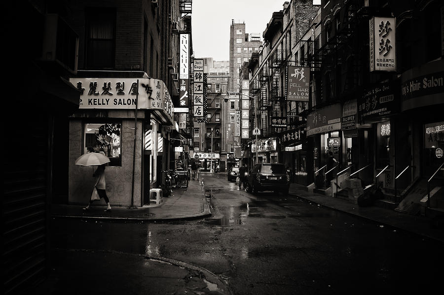 Rain - Pell Street - New York City Photograph
