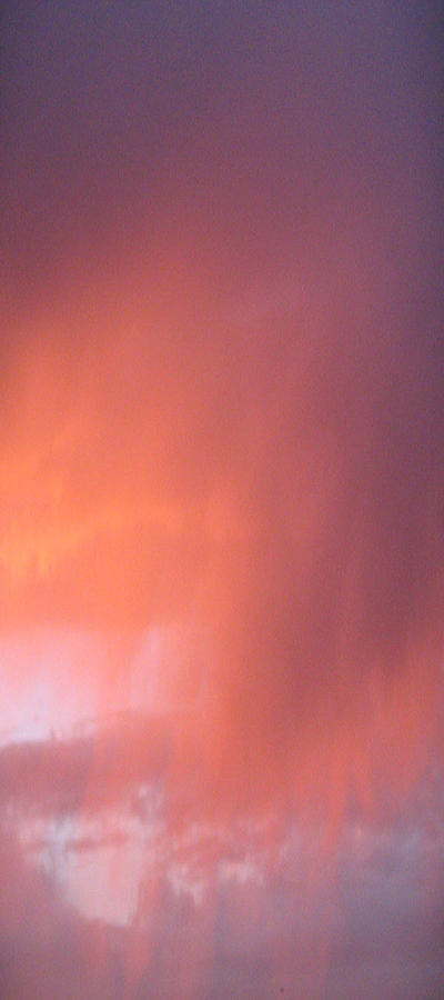 Rain At Sunset Pyrography