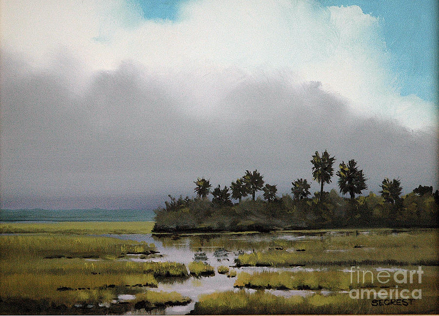 Rain On The Way Painting  - Rain On The Way Fine Art Print