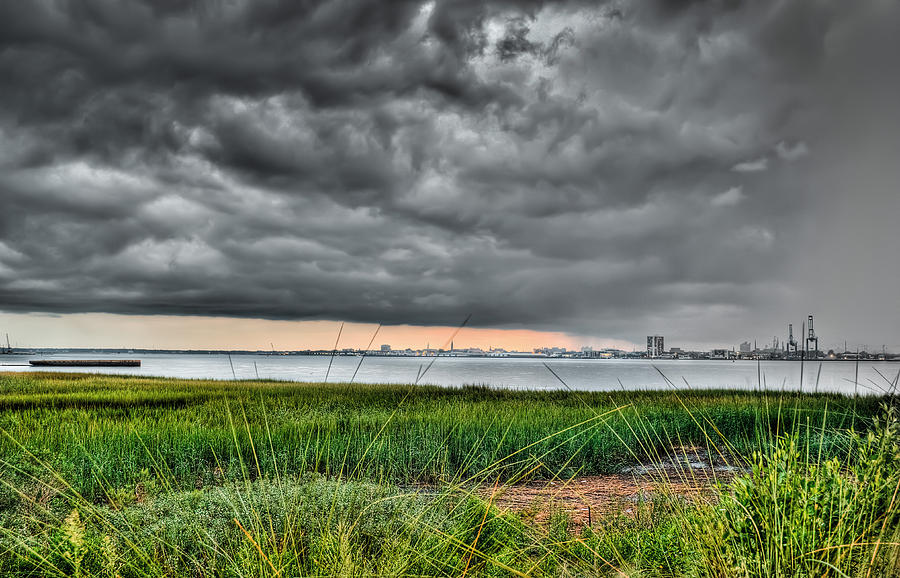 Rain Rolling In On The River Photograph  - Rain Rolling In On The River Fine Art Print