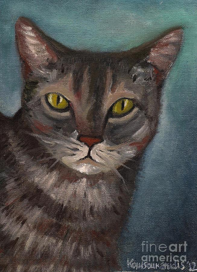 Rain The Cat Painting