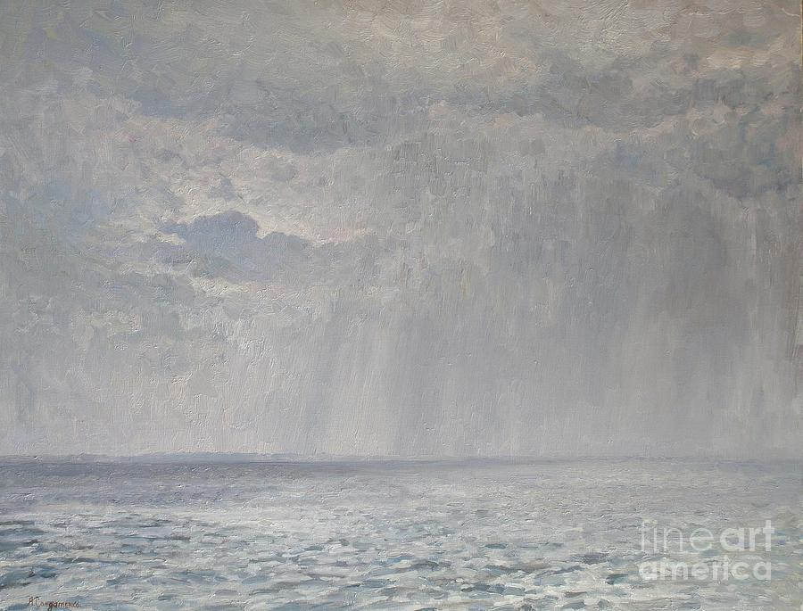 Rain Under The Volga Painting  - Rain Under The Volga Fine Art Print