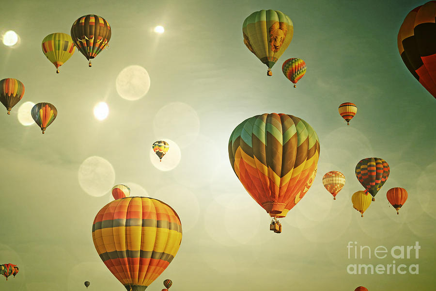 Rainbow Balloon Enchantment Photograph  - Rainbow Balloon Enchantment Fine Art Print