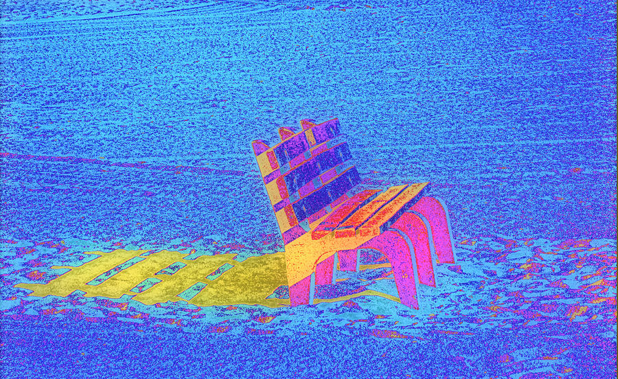 Rainbow Bench Photograph