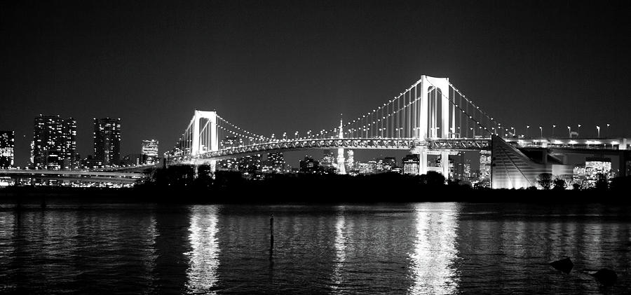 Rainbow Bridge At Night Photograph  - Rainbow Bridge At Night Fine Art Print