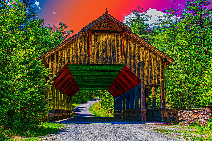 Rainbow Bridge Digital Art  - Rainbow Bridge Fine Art Print