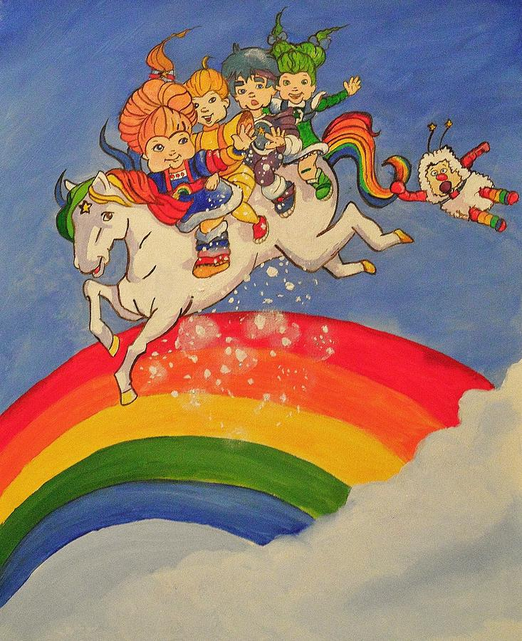 Rainbow Brite And Friends Painting: fineartamerica.com/featured/rainbow-brite-and-friends-tim-loughner...