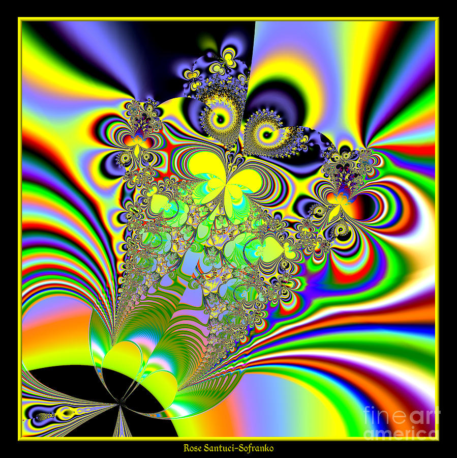 Rainbow Butterfly Bouquet Fractal 56 Digital Art