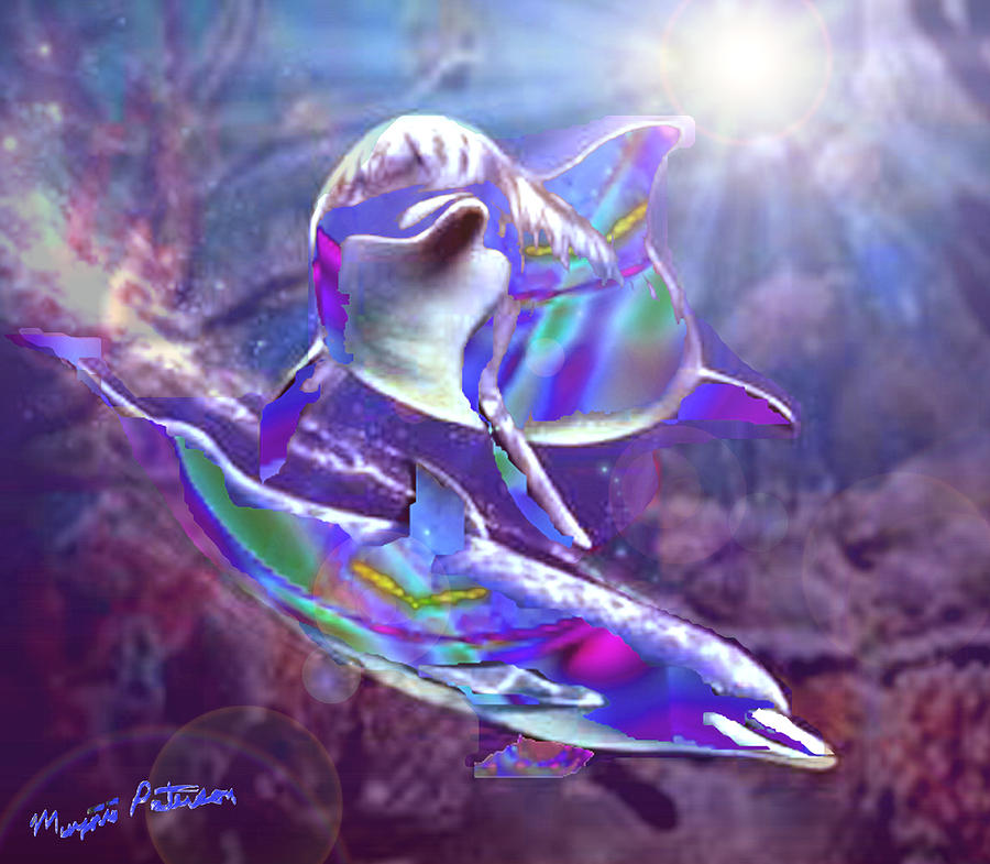 Rainbow Dolphins Digital Art