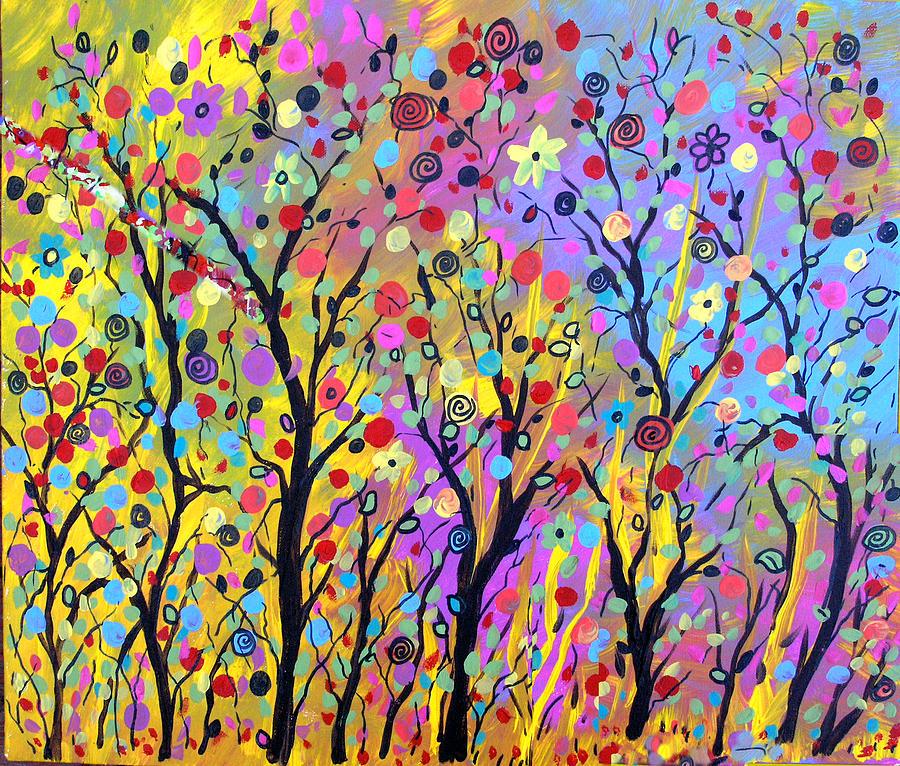 Rainbow Fantasy Garden Painting