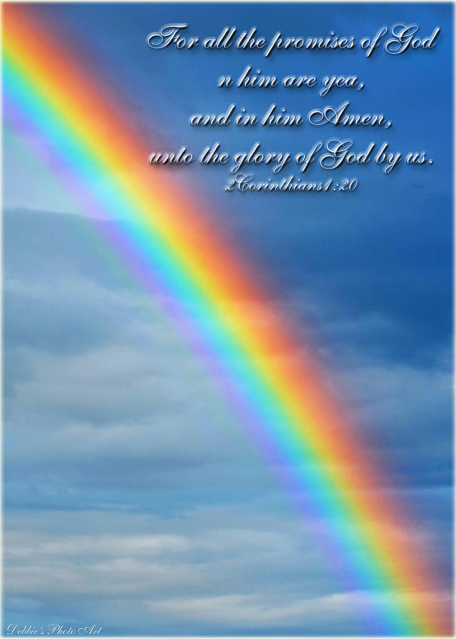 Rainbow Greeging Card With Verse is a photograph by Debbie Portwood ... New Baby Quotes Bible