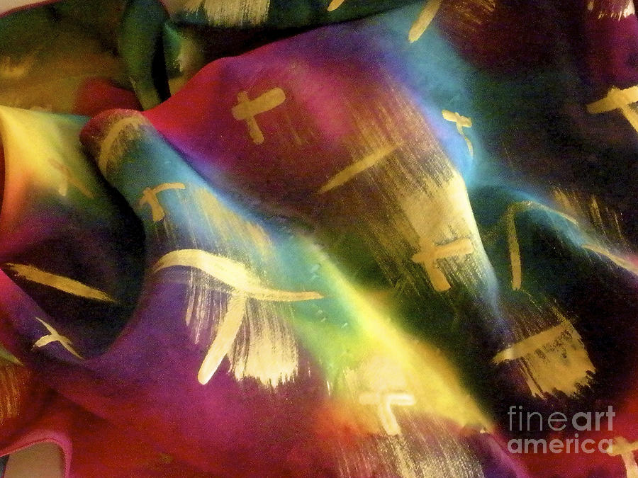Rainbow Lights Painting  - Rainbow Lights Fine Art Print