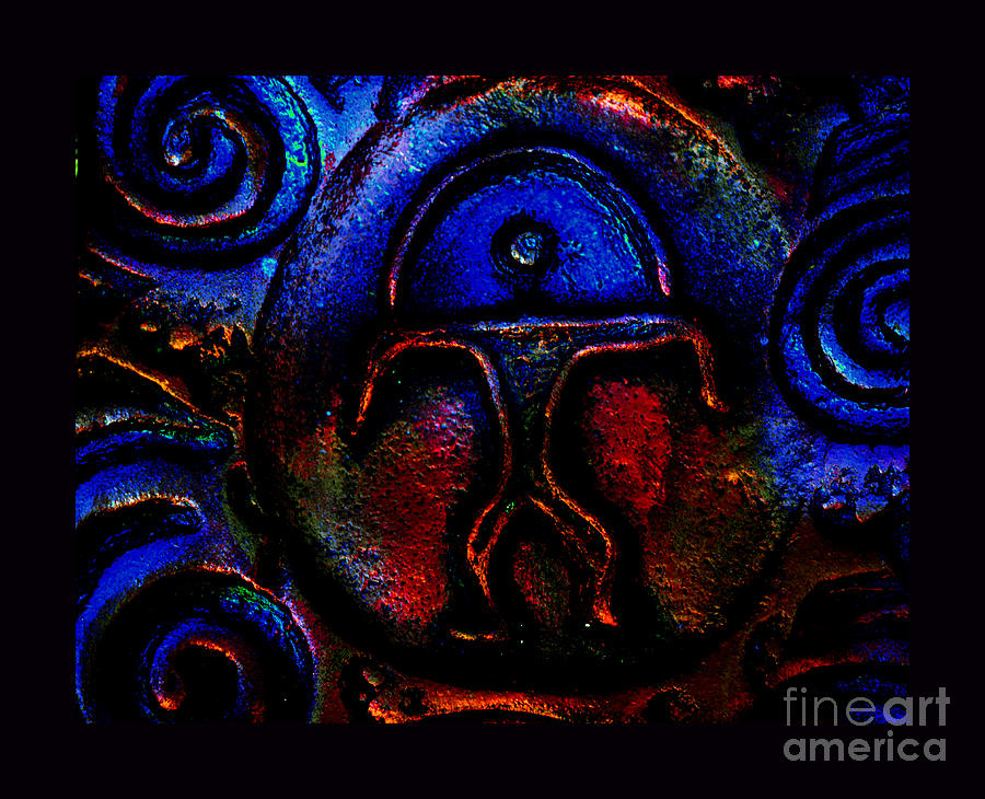 Petroglyphs Photograph - Rainbow Man by Susanne Still