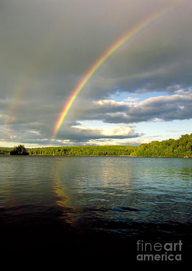 Rainbow Over Lake Wallenpaupack Photograph
