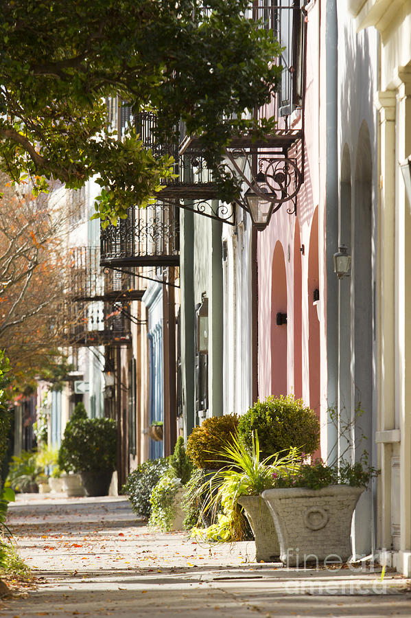 Rainbow Row Charleston Sc 2 Photograph  - Rainbow Row Charleston Sc 2 Fine Art Print