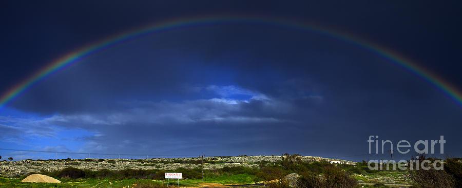 Architecture Photograph - Rainbow by Stelios Kleanthous