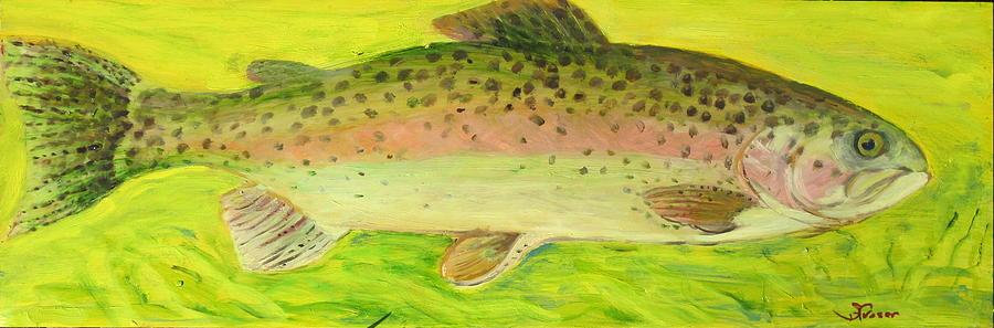 Rainbow Trout Painting  - Rainbow Trout Fine Art Print