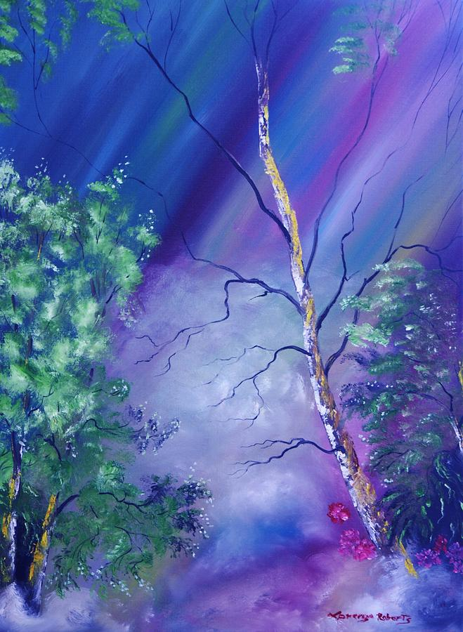 Rainbow Woods Painting  - Rainbow Woods Fine Art Print