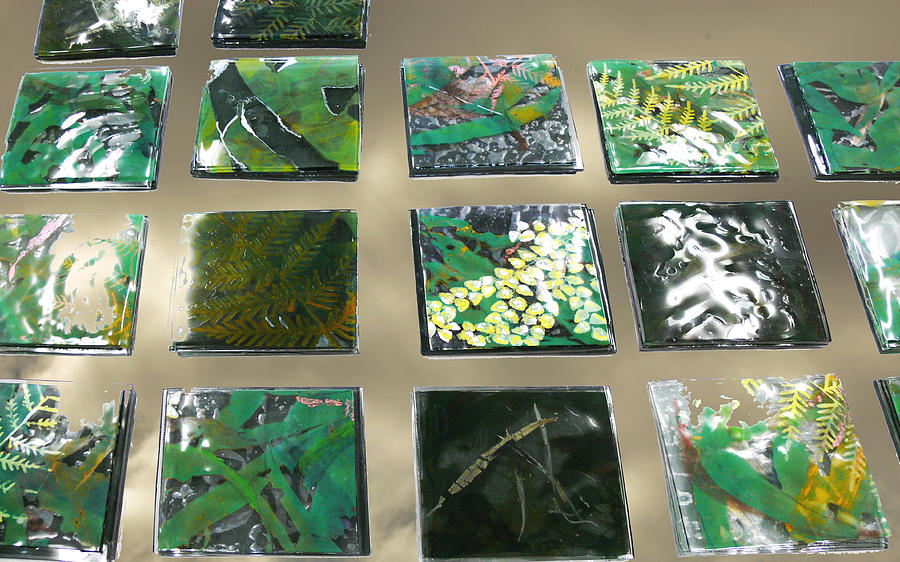 Rainforest Tile Prints Glass Art  - Rainforest Tile Prints Fine Art Print