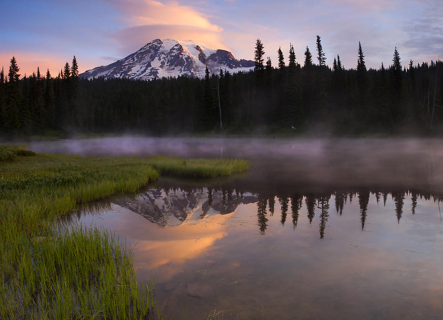 Rainier Lenticular Sunrise Photograph  - Rainier Lenticular Sunrise Fine Art Print