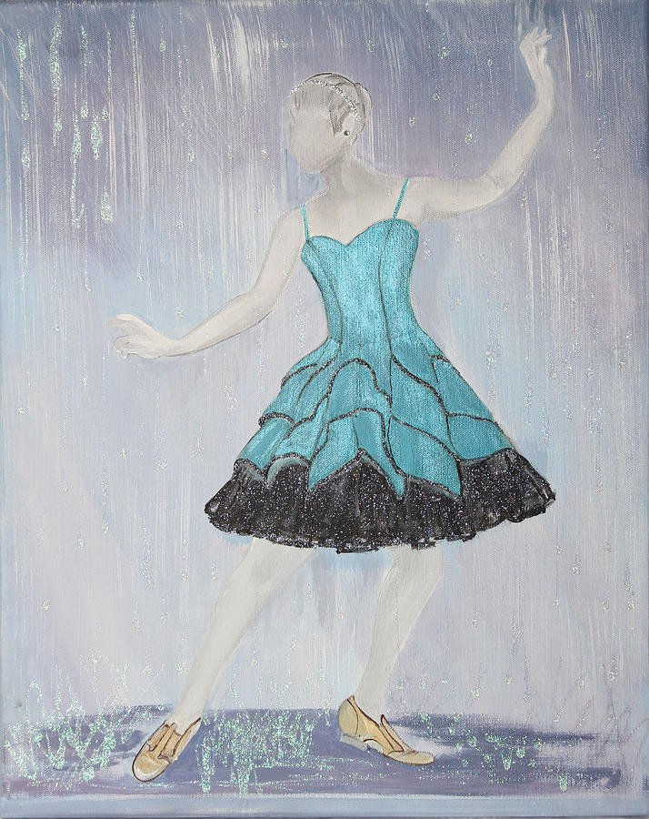 Raining On Prom Night Painting  - Raining On Prom Night Fine Art Print