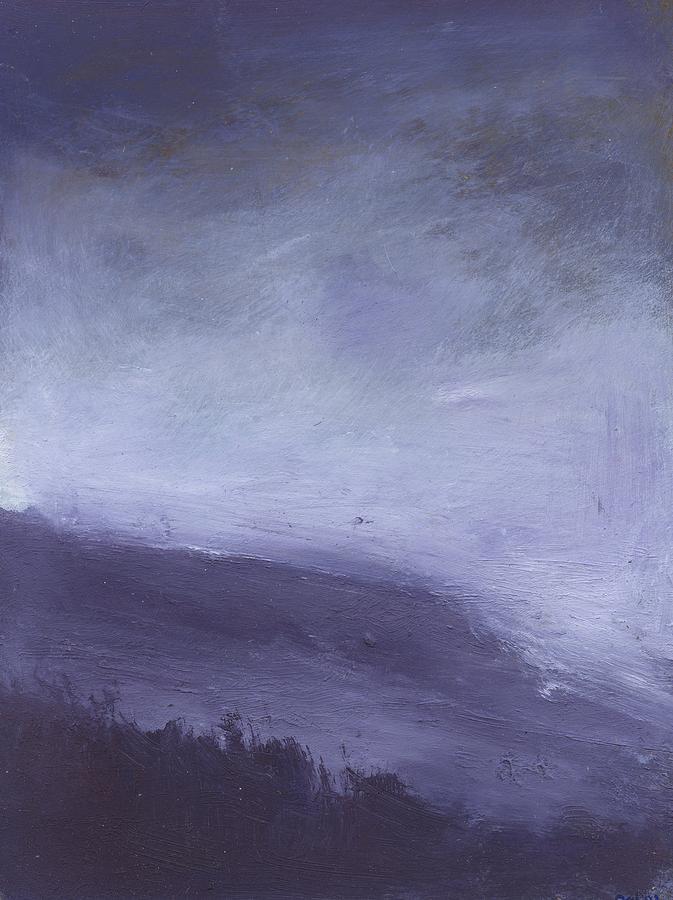 Storm Painting - Rainstorm Over Stenbury Down by Alan Daysh