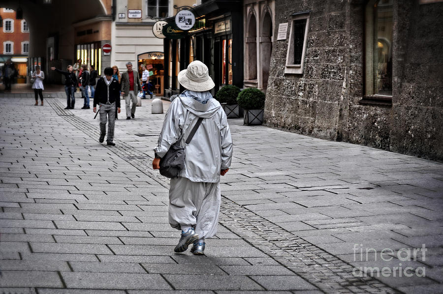 Rainwear In Salzburg Photograph  - Rainwear In Salzburg Fine Art Print