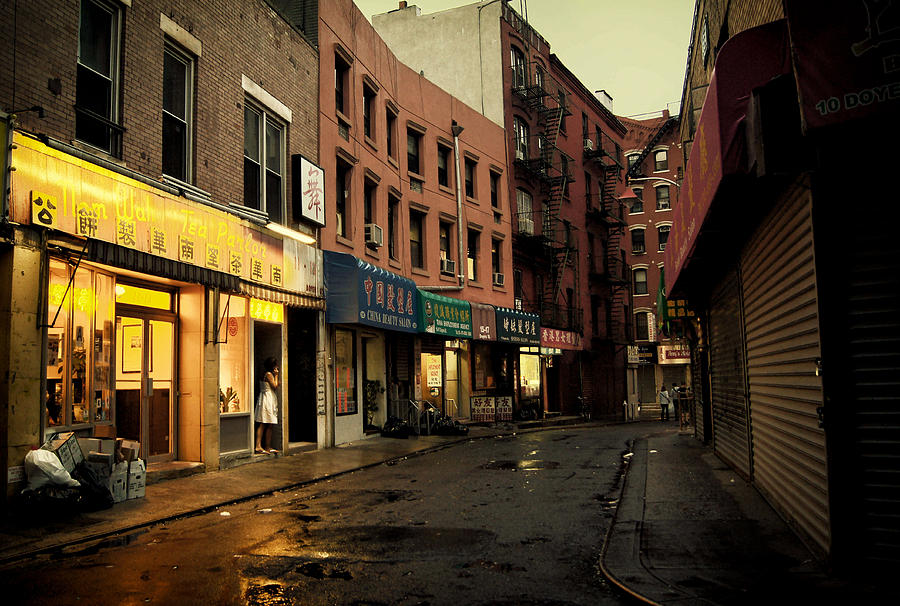 Rainy Afternoon On Doyers Street - New York City Photograph  - Rainy Afternoon On Doyers Street - New York City Fine Art Print