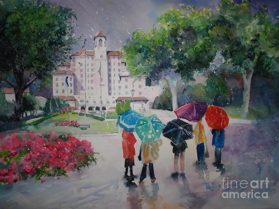 Rainy Day At The Broadmoor Hotel Painting
